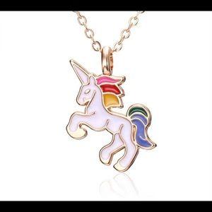 Unicorn necklace for girls